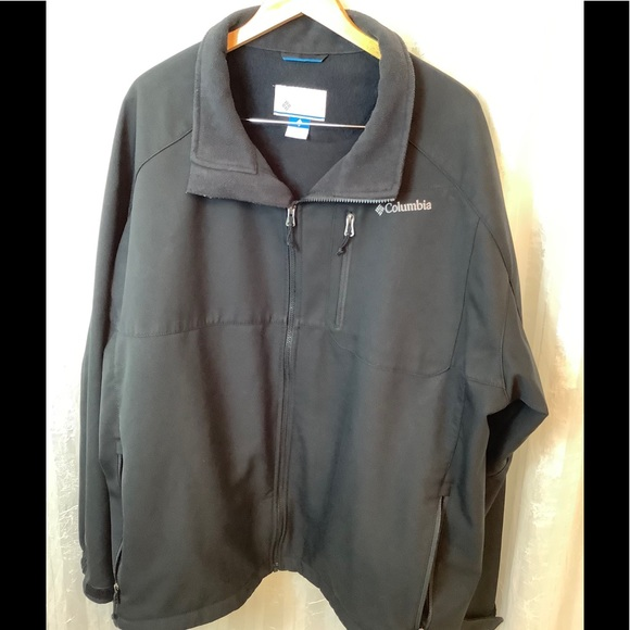 COLUMBIA SPORTSWEAR OMNI SHIELD BLACK JACKET SZ 4X
